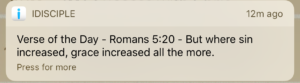 Romans 5:20. Grace abounds in the face of sin